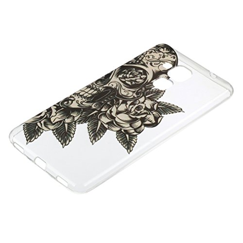 Ukayfe Custodia per Huawei Honor 5C,Ultra Slim TPU Gel Gomma Silicone Copertura Case per Huawei Honor 5C,Moda Serie Pattern Back Cover Crystal Skin Custodia Stilosa custodia di design Protettiva Shell Cranio