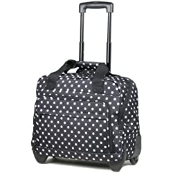 Members Essential on-board ligero portátil caso sobre ruedas - 45 x 37 x 20 cm, Black/White Polka (negro) - CM-0034-RP
