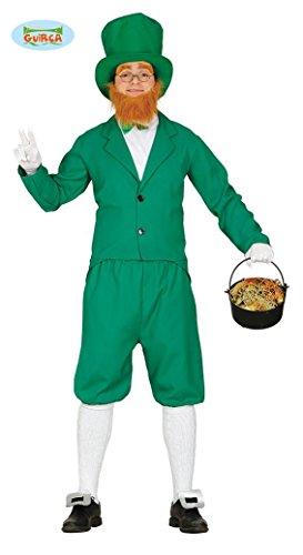 KOSTÜM - KOBOLD - Größe 48-50 (M), St. Patrick Day Irland 17. März Feiertag Gedenktag Lucky Shamrock (Herr Kobold Kostüme)