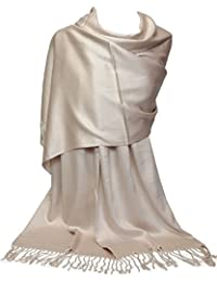 GFM Fashion Damen Pashmina Mehrfarbig mehrfarbig Large Gr. Large, .KSHMNA160ChmPg - Champagne
