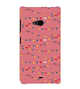 printtech Abstract Lines Design Back Case Cover for Nokia Lumia 535::Microsoft Lumia 535