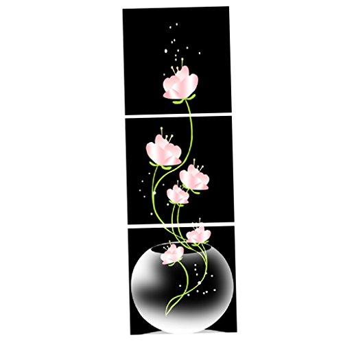 MagiDeal 3er-Set Lotus Wandbilder Kunstdruck Leinwand Bilder Set für Wohnzimmer Schlafzimmer Dekor - # 1 30x30cm (3 Stück) -