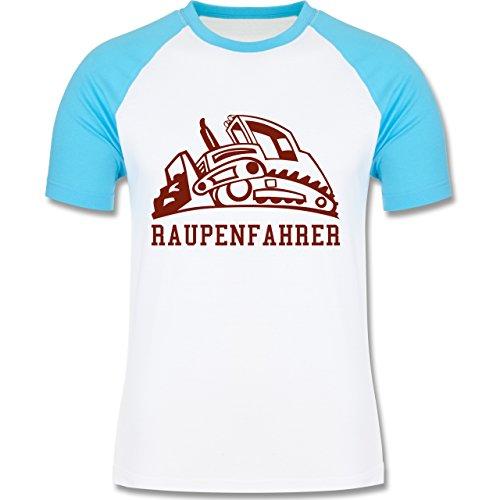 Andere Fahrzeuge - Raupenfahrzeug - zweifarbiges Baseballshirt für Männer Weiß/Türkis