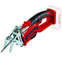 Einhell GE-GS 18 Li Solo Power X-Change 18 V Cordless Lithium-Ion Pruner for Trees and Bushes (150 mm Saw Blade Length, Without Battery and Charger) - Red