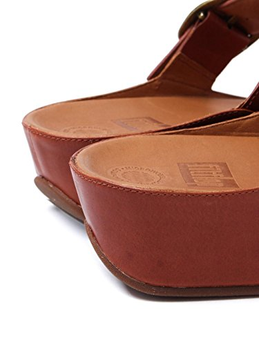 Leather Stack Womens Tan FitFlop Scuro Slide Sandals w7pHtx