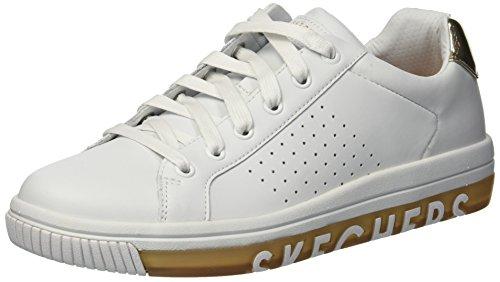 big sale b958c 3bca7 Skechers Damen Street Sweet - Step on It Sneaker Weiß (White Gold Wtgd)