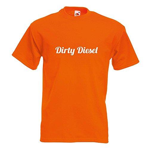 KIWISTAR - Dirty Diesel dreckiger T-Shirt in 15 verschiedenen Farben - Herren Funshirt bedruckt Design Sprüche Spruch Motive Oberteil Baumwolle Print Größe S M L XL XXL Orange