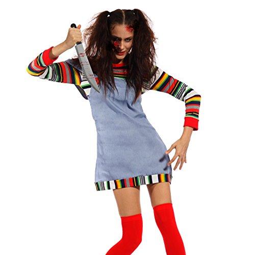 ppe Kostüm Halloween Horror Chucky Mörder Puppe Chuckykostüm (Chucky Maske Kostüm)