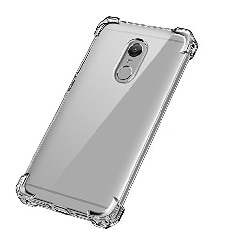 Kian Advanced Shock-absorbent Scratch-resistant Case Cover with Transparent Flexible TPU Gel Bumper for Meizu Pro 6 Plus, Crystal Clear