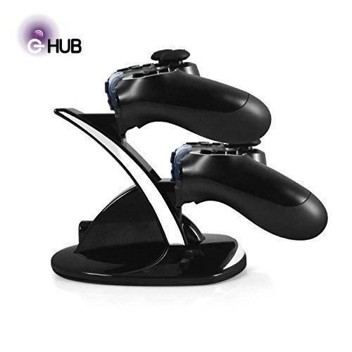 G-HUB® - Sony PlayStation-4 (PS4) DUAL CONTROLLER DOCK (Contiene e spese fino a 2 Controllori del movimento durante la carica) - Progettato da G-HUB® esclusiva per Sony Playstation 4 (PS-4) DualShock Controller tipo di Game Pad