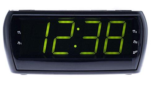 Digitaler LCD Wecker Uhrenradio Radiowecker Radio Uhr AM/FM Radio Helligkeitsregler XXL Display SCHWARZ
