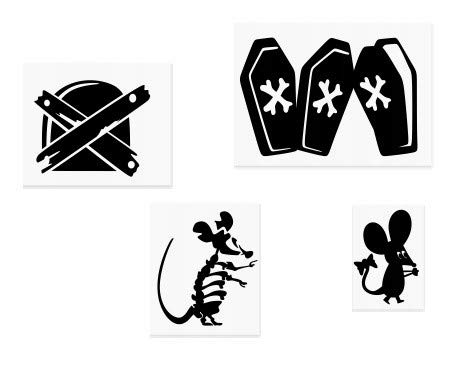 exe Halloween Gespenst Kürbis Mäuse Minie Loch Home Live Funny Art Wand Aufkleber Aufkleber Baseboard Kinder Mäuse Sockelleiste ()