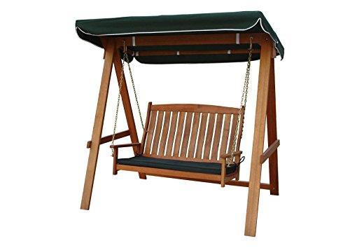 Kingfisher Hollywoodschaukel aus Hartholz, 2-Sitzer, mit Dach (Einheitsgröße) (Braun)