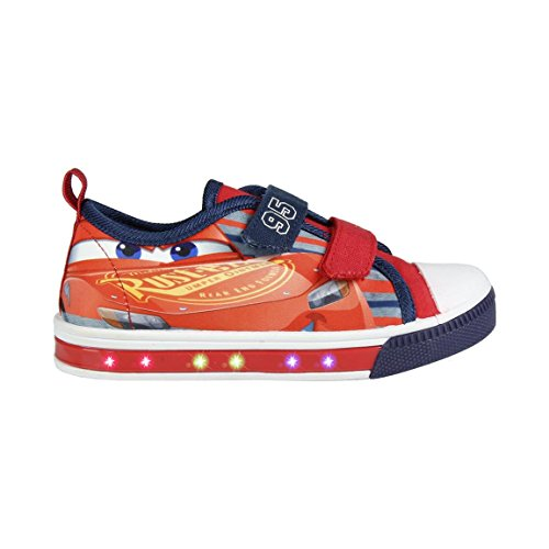 Cerd-Zapatillas-con-Luces-Disney-Cars-Bambas-de-Lona-con-Luz-Cars-Casual-Color-Rojo-Regalo