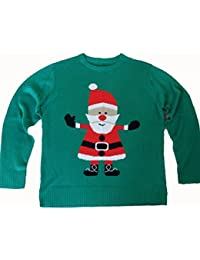 Kids Simply Santa Christmas Jumper Genuine Crazy Granny Knitted Jumpers ONE SIZE