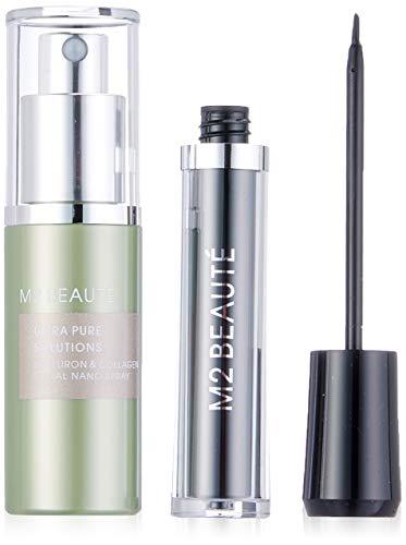 caff30d9f41 M2 Beauté Visionary Beauty Set - Suero de pestañas, ácido hialurónico &  Collagen facial Nano