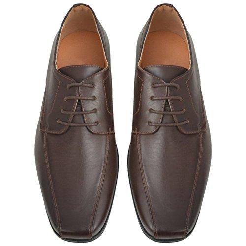 De De Hombres Vestir Marrones Con Los Zapatos Cordones Vidaxl Cordones Con Xpxdx0wqZ
