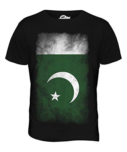 CandyMix Pakistan Verblichen Flagge Herren T Shirt Schwarz