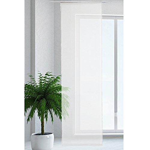JEMIDI Flächenvorhang Transparent Flächen Vorhang Schiebevorhang Schiebegardine Gardine (Weiss)