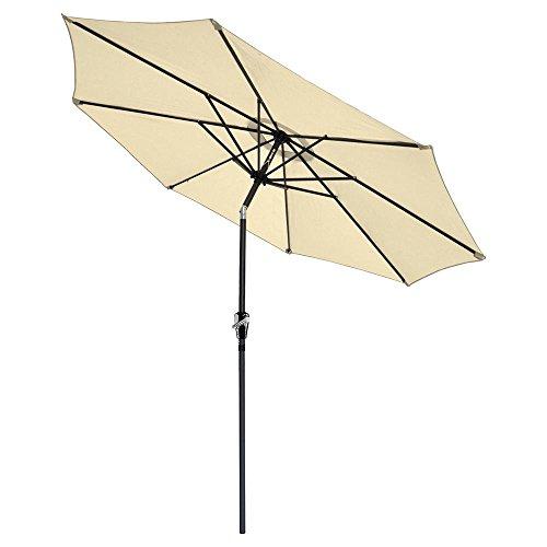 reasejoy-27m9ft-8-rib-outdoor-garden-patio-aluminium-parasol-umbrella-with-crank-and-38mm-tilt-pole-