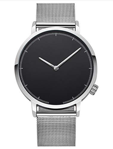 Hffan Ultra-flach Herren Damen Armbanduhr Ø40mm mit Mesh-Armband