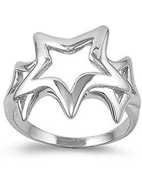 Ring aus Sterlingsilber - Stern