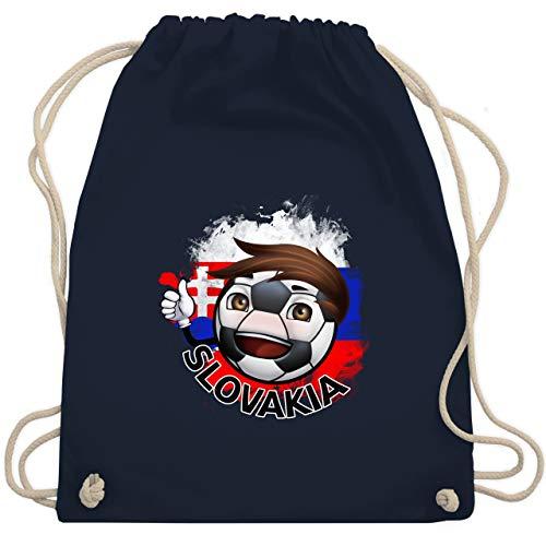 Navy Fußball-maskottchen (Fußball - Fußballjunge Slowakei - Unisize - Navy Blau - WM110 - Turnbeutel & Gym Bag)