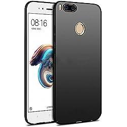 NAVT Xiaomi Mi 5X Funda,Ultrafino Estructura completamente rodeada la estructura de superficie mate Durable PC Protector teléfono funda para Xiaomi Mi 5X Smartphone (negro)