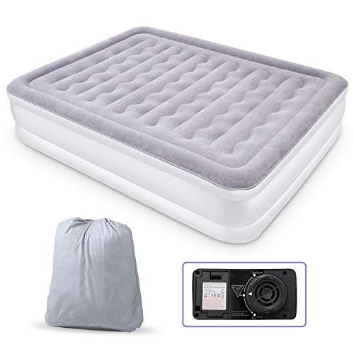Luftbett Doppel Queen Size Aufblasbare Luftmatratze Airbed Gästebett mit eingebauter elektrischer...