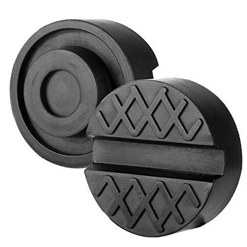 Preisvergleich Produktbild OKBY Jack Pad - 5er Black Slotted Frame Schiene Boden Jack Disk Rubber Pad für Pinch Weld Side