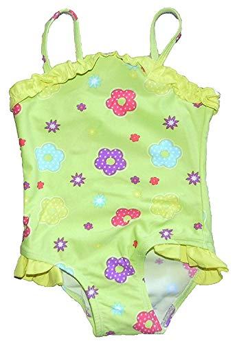 Ex Store Mädchen Badeanzug Swim Suit 9-12 Monate 12-18 Monate 18-24M 2-3 Jahre Fünf Stile - Limette Blume, Größe 98 (Mädchen Badeanzug Größe 24)