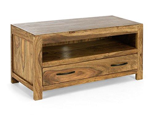 massivum TV-Unterschrank Palison 100x50x42 cm aus Palisander Massiv-Holz natur lackiert 1 Schublade TV-Bank (Tv-schränke Palisander)