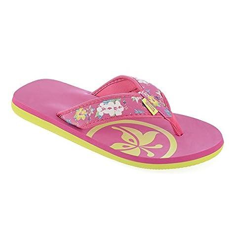 Urban Beach Ladies Cadillac Drive FW762 Toe Post Beach Flip Flops Sandals Shoes (Sizes 3-8 in Pink) (UK 5