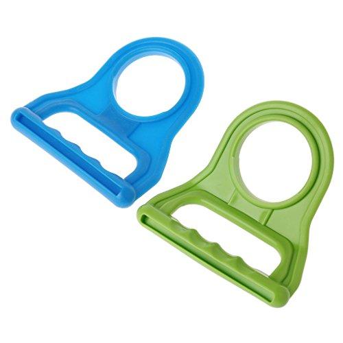 aschen-Eimer abgefülltes abgefülltes Wasser, das einfach ist, zufällige Farbe des Werkzeugs zu tragen ()