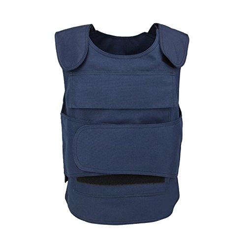 Weste Kugelsichere Kostüm - CyberKit Wasserdicht Stichschutzweste mit Verstellbarer Klettverschluss Polizeiweste, Blau (No Metalleinlage)