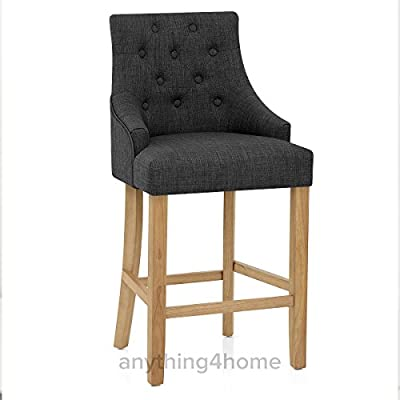 CrazyGadget® Fabric Breakfast Kitchen Barstool Bar Pub Counter Seat Stool Chair with Wooden Oak Legs - cheap UK light store.