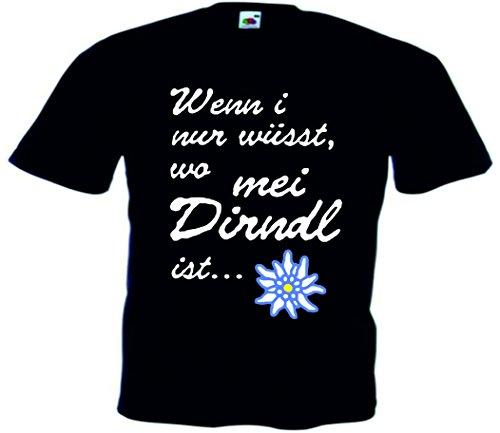 T-Shirt Oktoberfest Wiesn München Junggesellenabschied für Frauen Männer und Kinder in allen Größen XS bis 4XL oder Kinder 104 bis 164 Motiv Nr.17 Herren-Schwarz