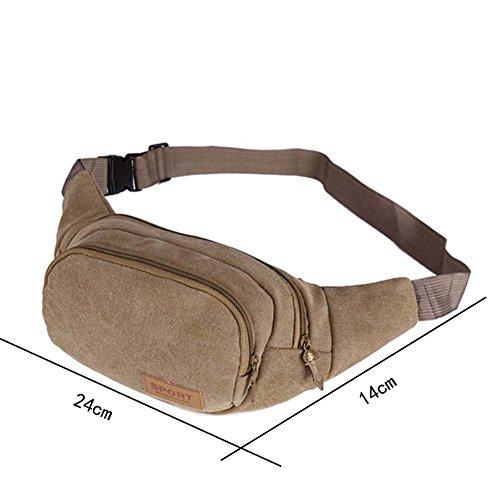 Ysber moda tela viaggi sport waist Packs marsupio running borsa borsa di tela Toolkit regolabile petto Pack bici zaini trekking zaini per uomini (Army green) Khaki