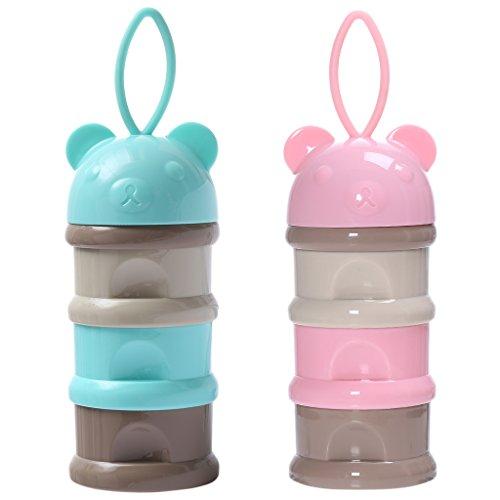 Sharplace 2pieces Baby Milchpulver Portionierer Spender Snack Container 3 Schichten