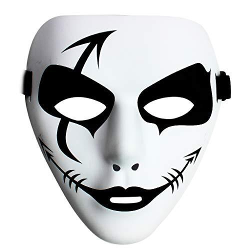 Owude maschera mascherata di halloween, maschere di ballo di hip hop maschere di fantasma del partito spettrale per halloween cosplay performance prop (style a)