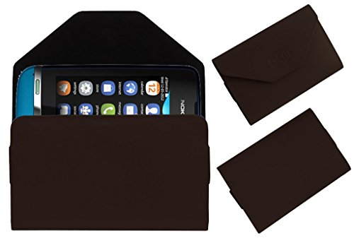 Acm Premium Pouch Case For Nokia Asha 311 Flip Flap Cover Holder Brown  available at amazon for Rs.179