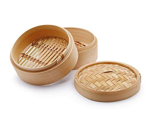 Chio Cuoci Vapore, Bambù, Beige, 25 cm, 3 Pezzi