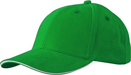 Myrtle Beach 6 Panel Sandwich Cap in Kontrastfarben MB024, Farbe:Fern Green/White;Größe:One Size
