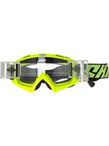 Shot Brille Roll Off Motocross 2017Creed Neon Gelb One Size gelb