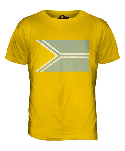 CandyMix Tuwa Kritzelte Flagge Herren T Shirt Dunkelgelb