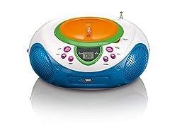 Lenco Scd-40 Usb Kids Cdmp3-player Mit Usb, Ukw-radio, Lcd-display, Wiederholungsfunktion, Aux-eingang