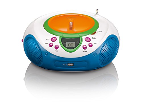 Lenco SCD-40 USB Kids CD/MP3-Player mit USB, UKW-Radio, LCD-Display, Wiederholungsfunktion, AUX-Eingang