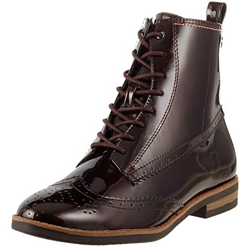Tamaris Damen 25119-21 Combat Boots, Braun (Maroon Pat. 387), 37 EU (Combat Schuhe Für Frauen)