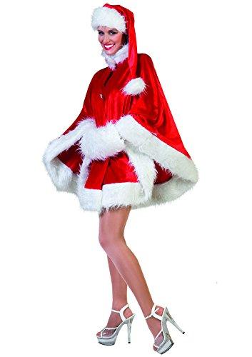 Halloweenia - Weihnachts Kostüm- Damen- Miss Santa- Weihnachtsfrau- Plüsch , Erwachsenen Kostüm, One Size, ()