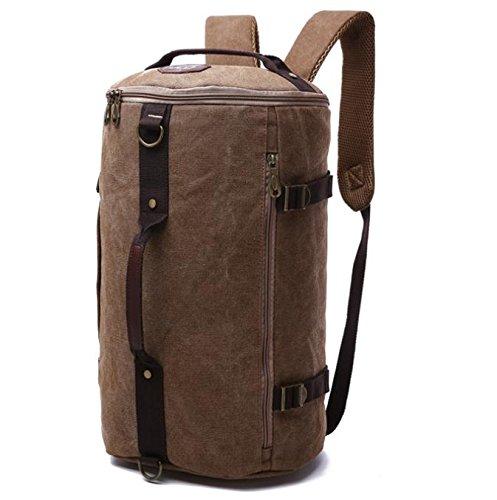 811adabd4c ... borse da viaggio , khaki coffee color. &ZHOU Borsa di tela, Tela  secchio borsa viaggio borsa grande capacità borsa uomini e donne